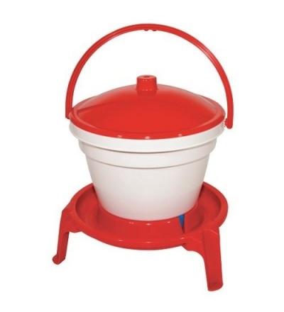 TOPTRADE napáječka plastová, kbelíková, na podstavci, pro drůbež, 12l 308060
