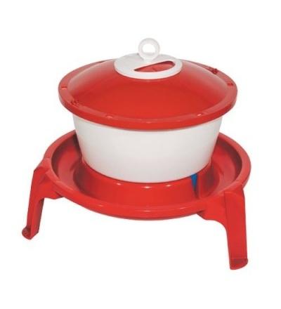 TOPTRADE napáječka plastová, kbelíková, na podstavci, pro drůbež, 6l 308058