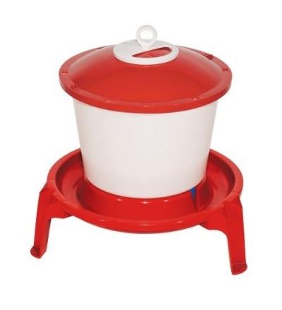 TOPTRADE napáječka plastová, kbelíková, na podstavci, pro drůbež, 9l 308059