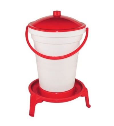 TOPTRADE napáječka plastová, kbelíková, na podstavci, s plovákem, pro drůbež, 24l 308062