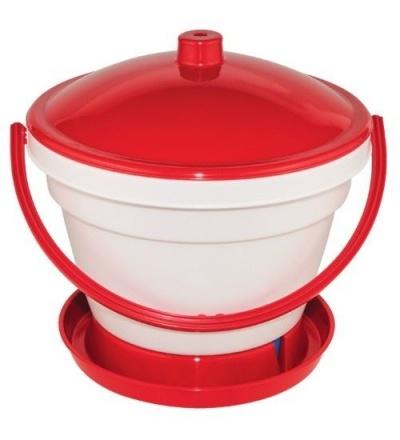 TOPTRADE napáječka plastová, kbelíková, s plovákem, pro kuřata, 12l 308053