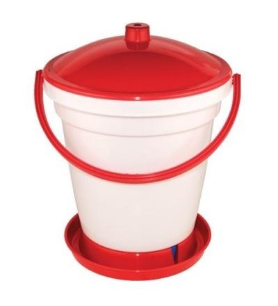 TOPTRADE napáječka plastová, kbelíková, s plovákem, pro kuřata, 18l 308054