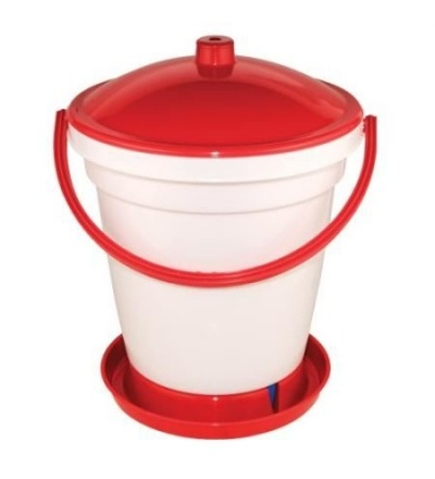 TOPTRADE napáječka plastová, kbelíková, s plovákem, pro kuřata, 24l 308056
