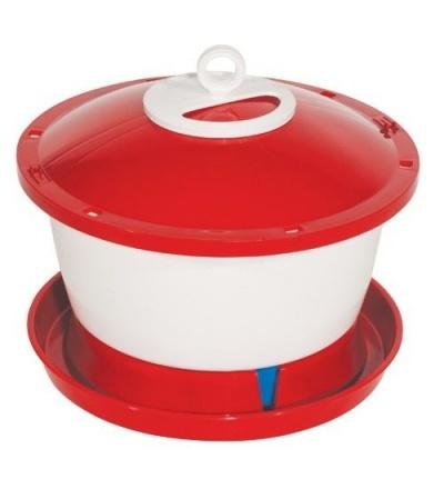 TOPTRADE napáječka plastová, kbelíková, s plovákem, pro kuřata, 6l 308049