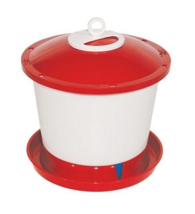 TOPTRADE napáječka plastová, kbelíková, s plovákem, pro kuřata, 9l 308051