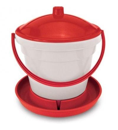 TOPTRADE napáječka plastová, kbelíková, s plovákem, pro slepice, 12l 308052