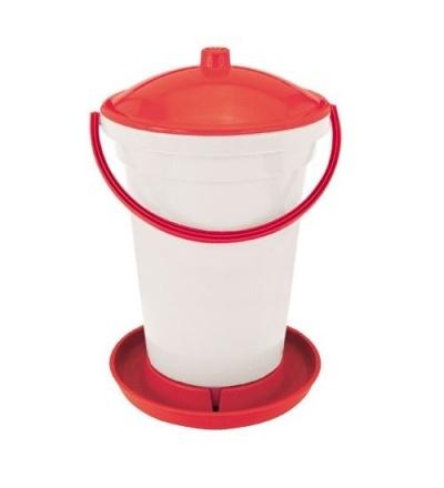 TOPTRADE napáječka plastová, kbelíková, s plovákem, pro slepice, 24l 308057