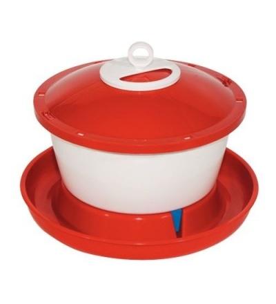 TOPTRADE napáječka plastová, kbelíková, s plovákem, pro slepice, 6l 308048
