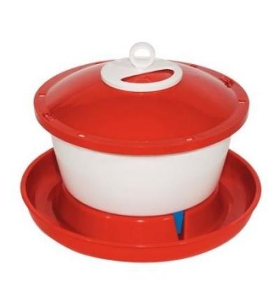 TOPTRADE napáječka plastová, kbelíková, s plovákem, pro slepice, 9l 308050