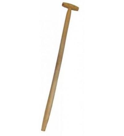 TOPTRADE násada na lopatu a vidle, prohlá, s koncovkou T, 120 cm 108005