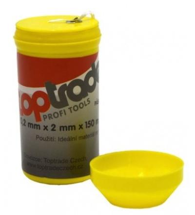 TOPTRADE nit teflonová, v plastovém pouzdře, 0,2 x 2 mm / 150 m 701420