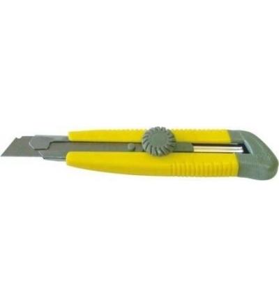 TOPTRADE nůž odlamovací,plastový,s kovovou výztuhou a šroubovou aretací,Leader L-17, 18mm,profi 200200