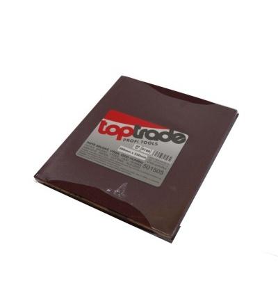 TOPTRADE papír brusný, zrnitost 100, balení 50 ks, 280 x 230 mm 501505