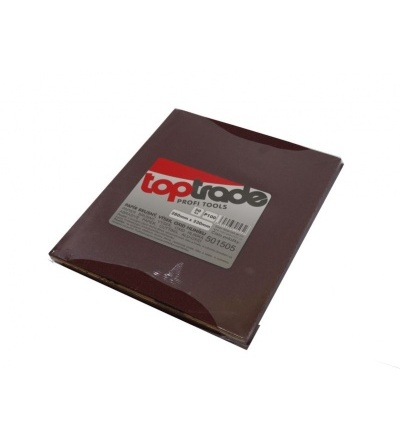 TOPTRADE papír brusný, zrnitost 60, balení 50 ks, 280 x 230 mm 501503