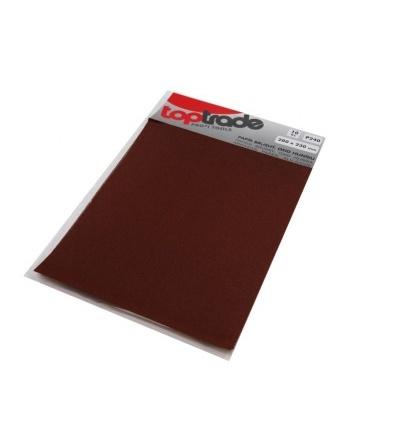 TOPTRADE papír brusný, zrnitost 80, balení 10 ks, 280 x 230 mm 501513