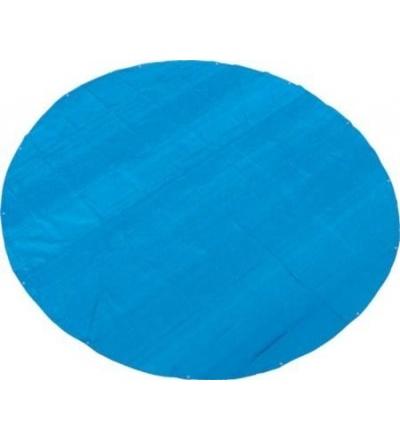 TOPTRADE plachta krycí , modrá, s kovovými oky, kulatá, O 6,5 m, 150 g / m2, profi 600072