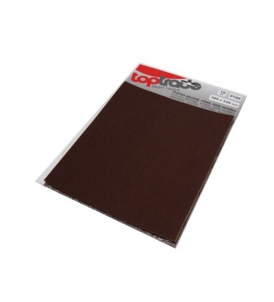 TOPTRADE plátno brusné, zrnitost 120, balení 10 ks, 280 x 230 mm 501534