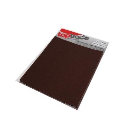 TOPTRADE plátno brusné, zrnitost 80, balení 10 ks, 280 x 230 mm 501532
