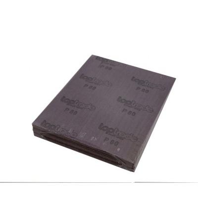 TOPTRADE plátno brusné, zrnitost 80, balení 50 ks, 280 x 230 mm 501523