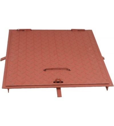 TOPTRADE poklop šachtový, ocelový, rám  500 x 500 mm 600624