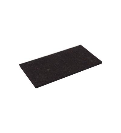TOPTRADE povrch náhradní, plsť hnědá, 250 x 130 x 10 mm, profi 105240