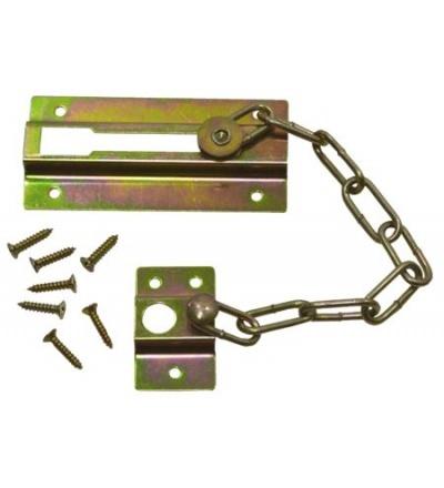 TOPTRADE řetěz dveřní, niklovaný, bezpečnostní, 75 mm 603050