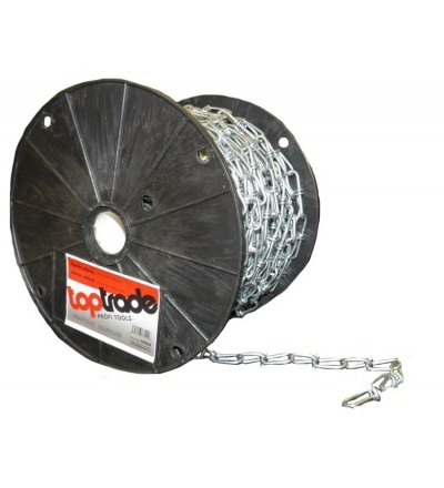 TOPTRADE řetěz uzlový, pozinkovaný, na cívce, 2,5 mm x 30 m 707024