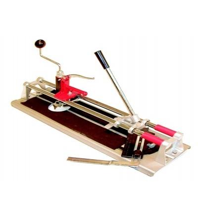 TOPTRADE řezačka na obklady, s lámačkou, úhelníkem a vykružovákem, 400 mm, hobby 602017