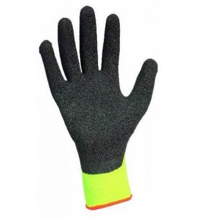 TOPTRADE rukavice nylonové, s latexovou dlaní a úpletem 600146