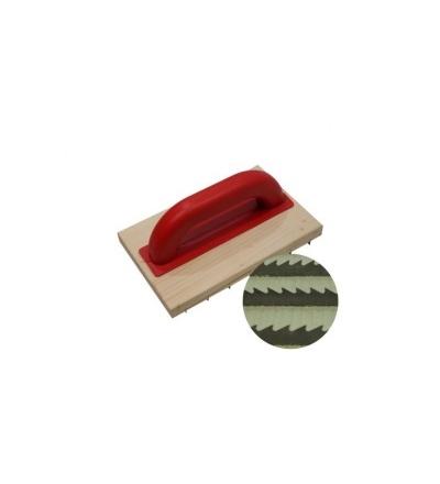 TOPTRADE škrabák dřevěný, hrubý zub, 220 x 140mm 105148