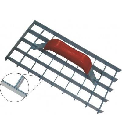 TOPTRADE škrabák omítek, mřížový, ozubený, 290 x 150 mm 106080