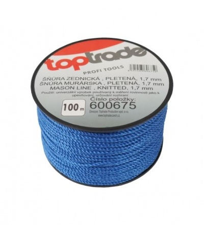 TOPTRADE šňůra zednická, pletená, O 1,7 mm / 100 m 600675