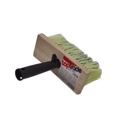 TOPTRADE štětka zednická, dřevěná, hranatá, s plastovou rukojetí 600502