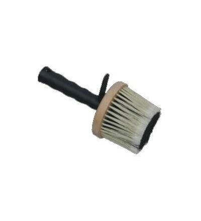 TOPTRADE štětka zednická, dřevěná, kulatá, s plastovou rukojetí 600503