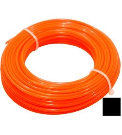 TOPTRADE struna do sekačky, plastová, průřez čtvereček, 2,4 mm x 15 m 307043