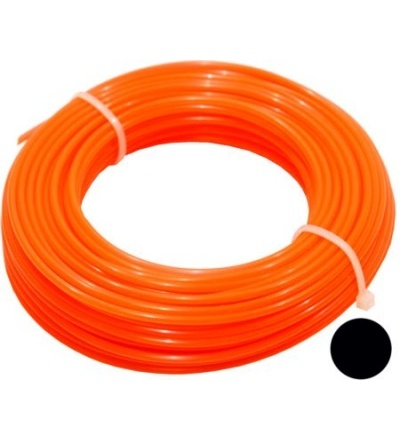 TOPTRADE struna do sekačky, plastová, průřez kulatý, 2,4 mm x 15 m 307033