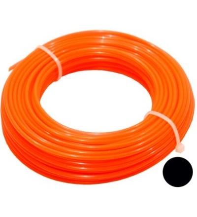 TOPTRADE struna do sekačky, plastová, průřez kulatý, 2 mm x 15 m 307032