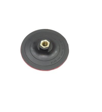 TOPTRADE talíř podložný, se suchým zipem, M14, O 125 mm 501603