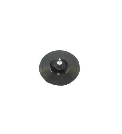 TOPTRADE talíř podložný, se suchým zipem, stopka 6 mm, O 125 mm 501602