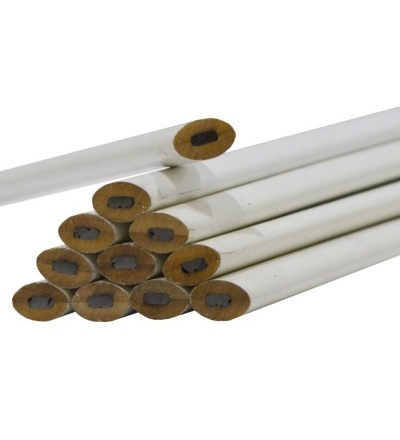 TOPTRADE tužka tesařská, bílá, sada 12 ks, 250 mm 600018
