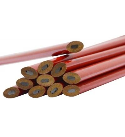 TOPTRADE tužka tesařská, červená, sada 12 ks, 250 mm 600008