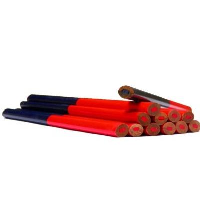 TOPTRADE tužka tesařská, ovál, červenomodrá, sada 12 ks, 180 mm 600202