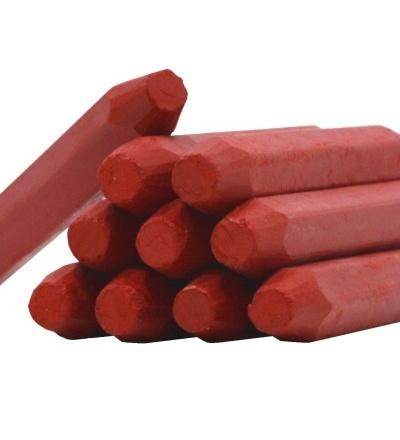 TOPTRADE tužka značkovač, červená,  sada 12 ks, 13 x 100 mm 600205