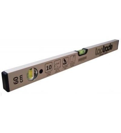 TOPTRADE vodováha stříbrná, 2 libely, 1000 mm, standard 100101