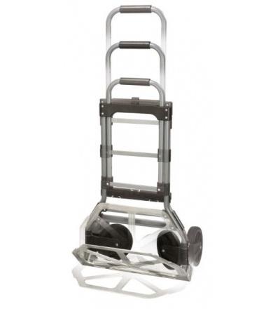 TOPTRADE vozík - rudl skládací, nosnost 150 kg, teleskopická rukojeť 105640