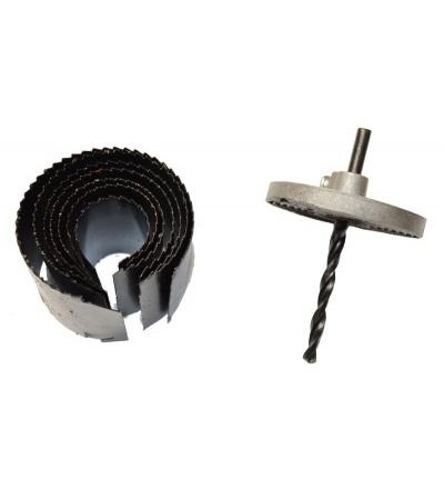 TOPTRADE vykružovák stavitelný, pilkový, O 26 – 63 mm 107266