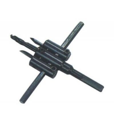 TOPTRADE vykružovák stavitelný, vypichovací, na sádrokarton, O 30 – 120 mm 107265