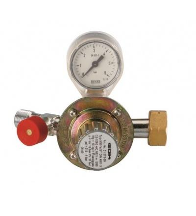 Ventil na PB, redukční, s manometrem, 0,5 – 4 bar 706051