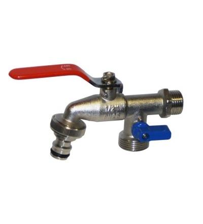 Ventil zahradní, s adaptérem, ventil 2 x 3/4