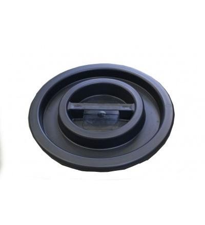 Víko plastové, černé, na sud 50l, 65l 309311